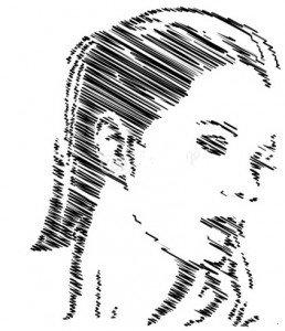 femme visage dessin