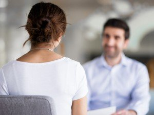 Interview of two business professionals